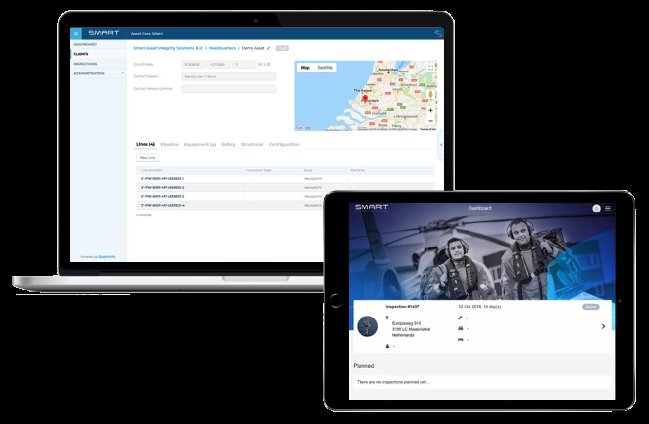 SMART AIS - Screenhots web en tablet app